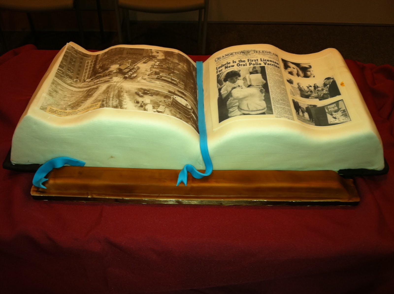"Cakes By Hotkist: ""Honoring Our Heritage"" History Book Cake"