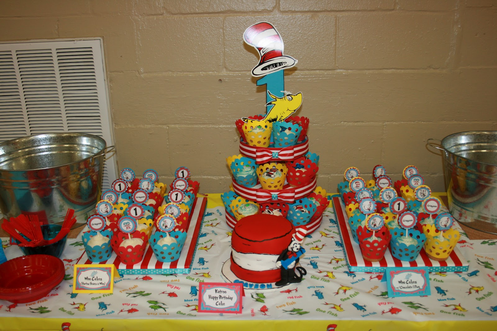 Piece Of Cake By Kate Cat In The Hat 1st Birthday