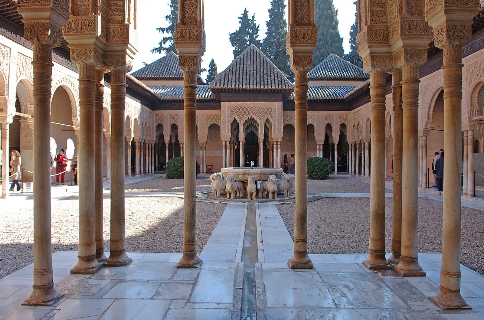 Arte para ni os el patio de los leones en la alhambra de - Patios de granada ...