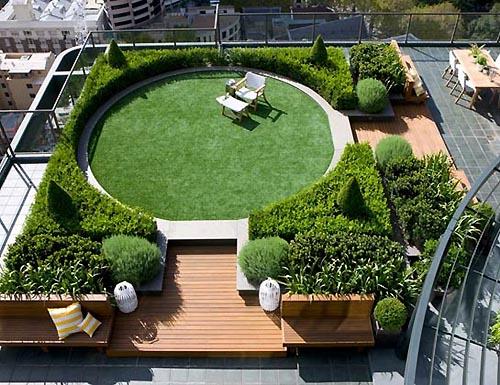 In Design Magz Modern Roftop Garden Landscaping Design Ideas