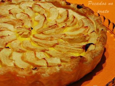 Tarte de maçã com reccheio de pasteleiro