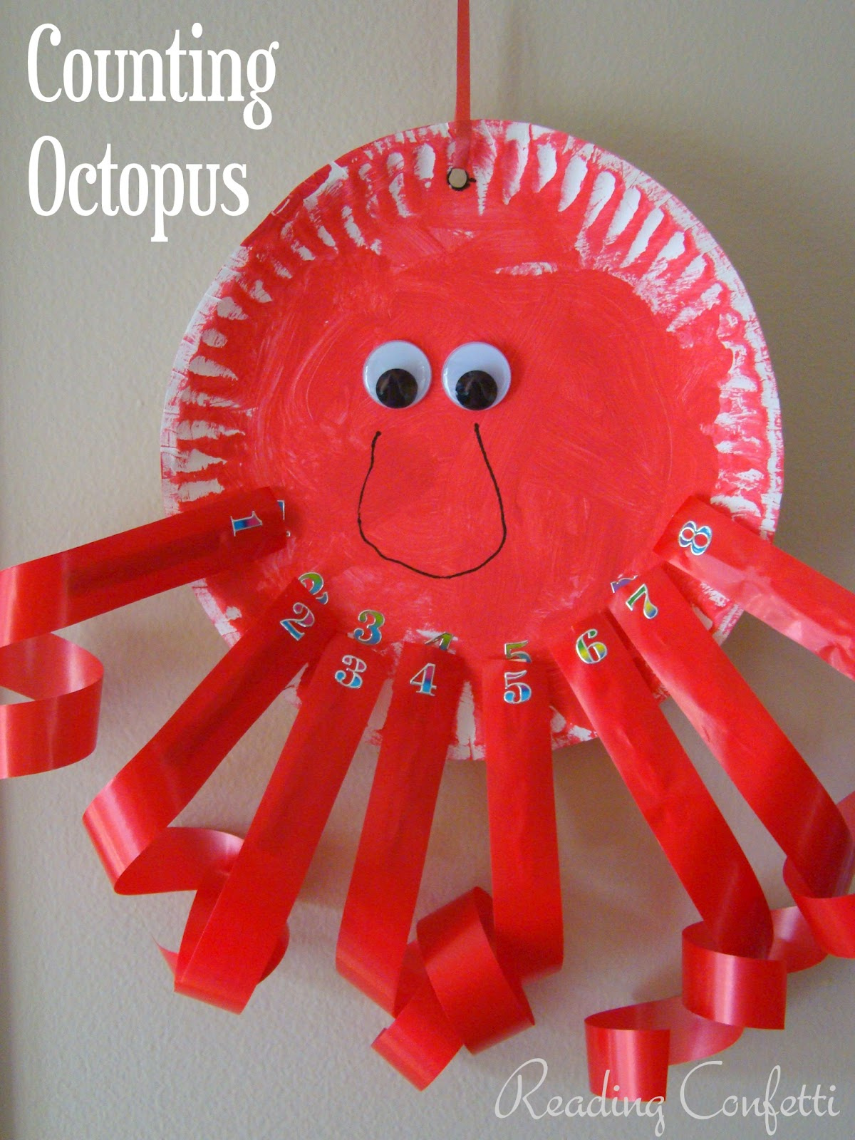 Counting Octopus Clothespin Craft Reading Confetti