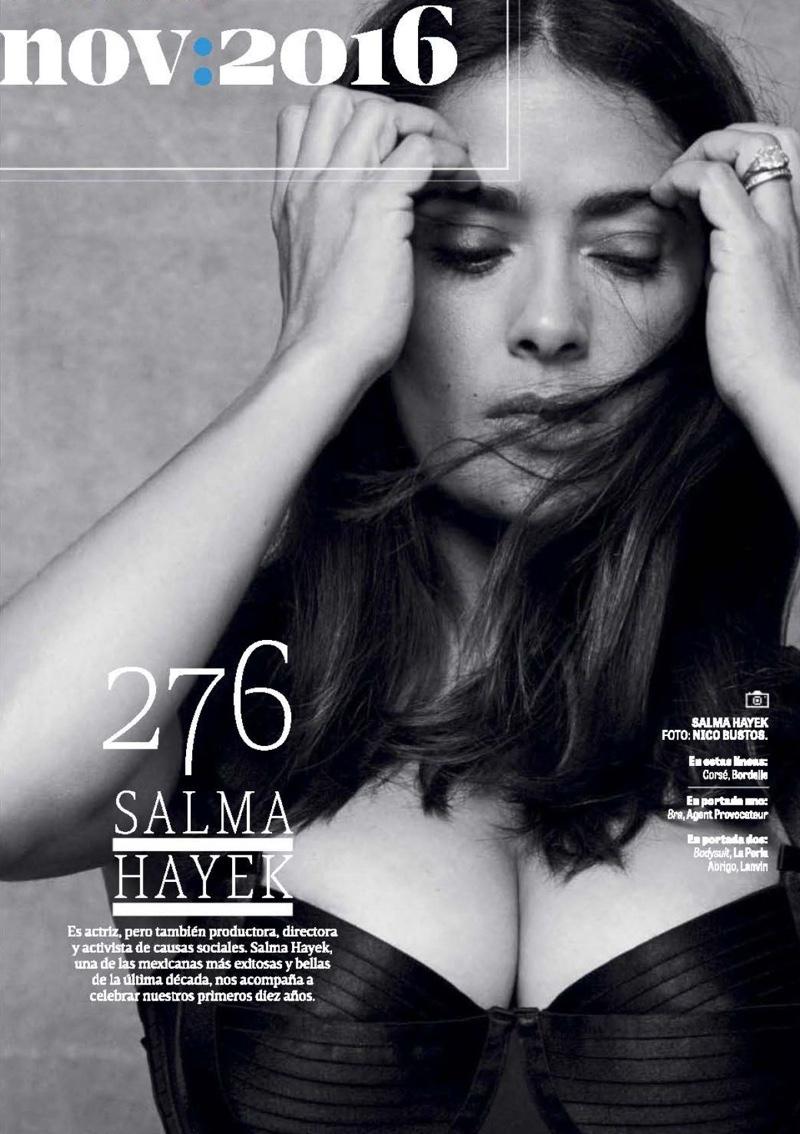 Salma Hayek wears Bordelle corset
