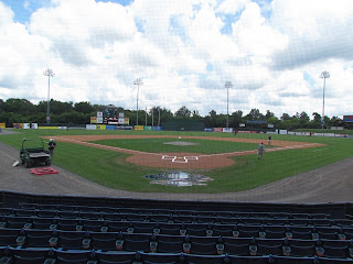 Home to center at State Mutual Stadium