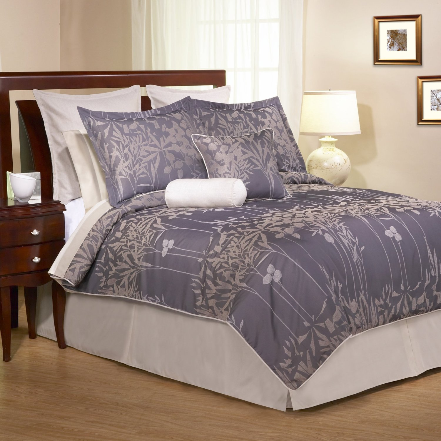Grey And Purple Comforter Amp Bedding Sets