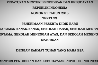 Inilah Isi Lengkap JUKNIS Terbaru Tentang Mekanisme PPDB SD SMP SMA SMK Tahun 2019-2020
