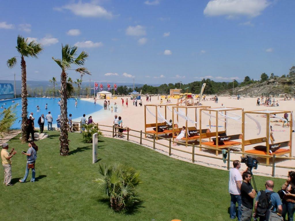 Praia artificial de mangualde com fotos e v deo for Piscina 6500 litros