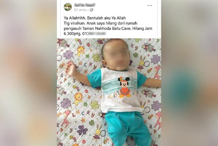 Bayi Hilang Rupanya Dijumpai Dalam Peti Ais Pengasuh
