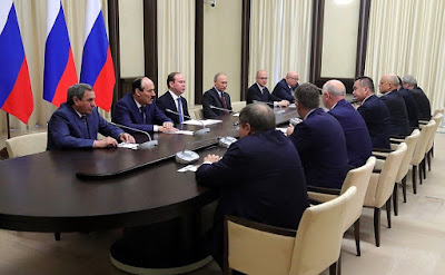 Vladimir Putin and former leaders of regions of Russia