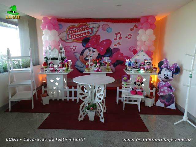Decoração festa Minnie rosade para aniversário infantil - Provençal simples