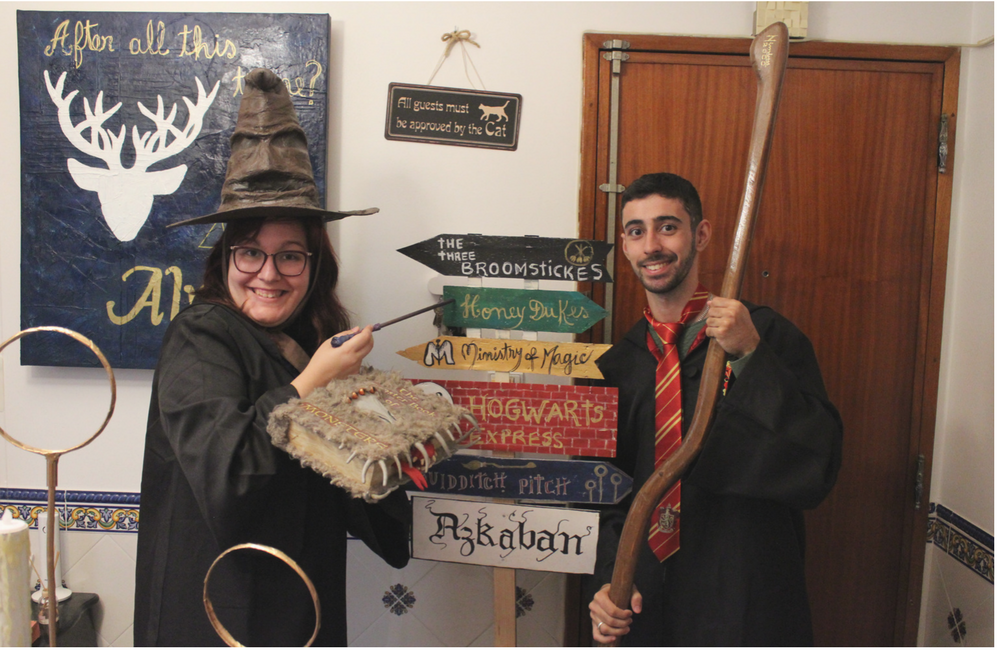 Harry Potter birthday party + festa de aniversário + 25 anos + blogue de casal + lifestyle + Harry Potter + decoração Harry Potter + wc hp + comida harry potter + decor + blogue ela e ele + ele e ela