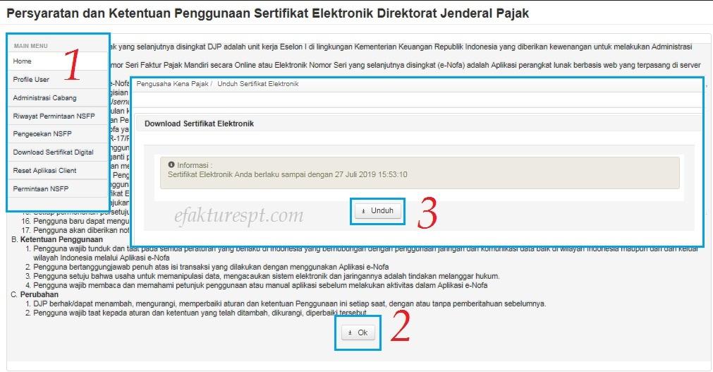 Tidak Dapat Download Sertifikat Elektronik E Faktur Di Enofa Online