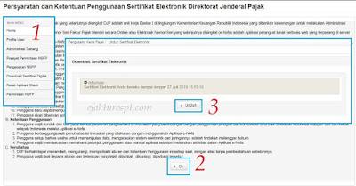 Download Sertifikat Elektronik di Enofa Online