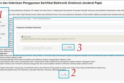 Tidak Dapat Download Sertifikat Elektronik e-Faktur di Enofa Online