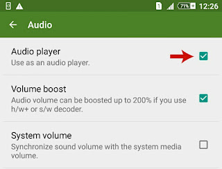 Use MX as an audio player
