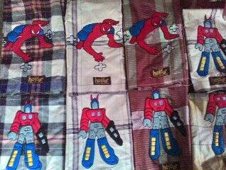 Sarung Instan Robot dan Spiderman Terbaru