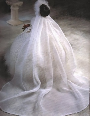 Vestido de Noiva de Crochê The Bridal Belle Collection Miss Janeiro 1998