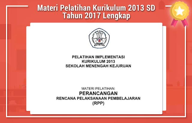 Materi Pelatihan Kurikulum 2013 SD