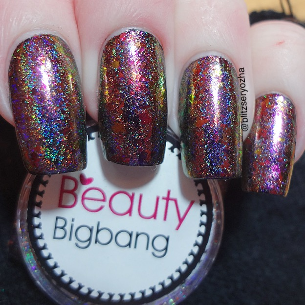 A swatch photo of Beauty Bigbang, Chameleon Holo Flakes, J2419-5C