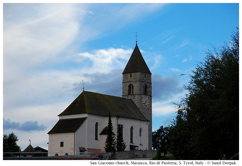 San Giacomo church, Maranza (Rio di Pusteria, Alto Adige, Italy) - Images by Sunil Deepak
