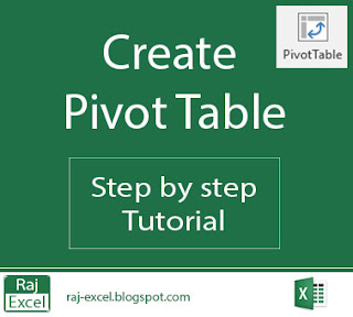 how to create pivot table in excel 2016