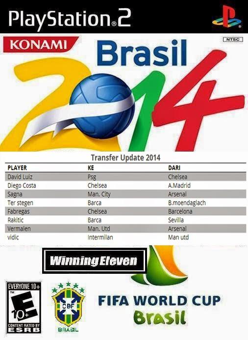 Winning eleven 2014 Edisi Brazil PS2 ISO
