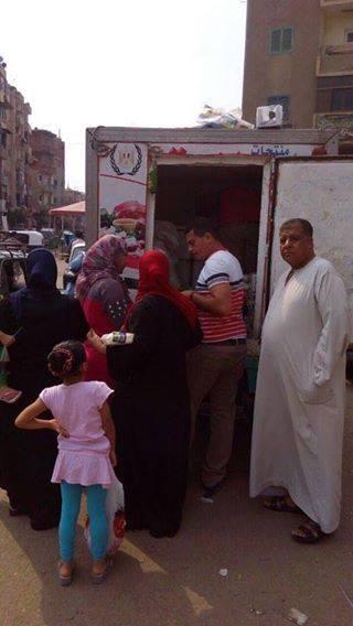 تموين الغربية ينظم قوافل لبيع السلع الغذائية بمحافظة الغربية