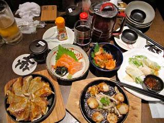 Japanese Food Dinner Osaka Japan