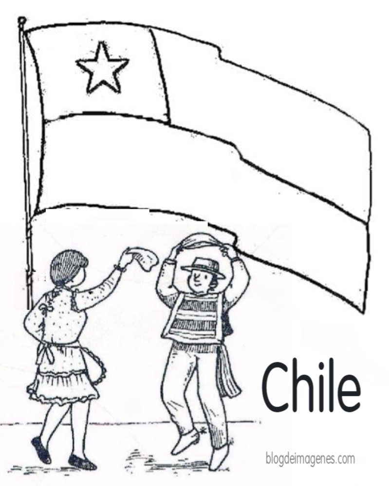 Dibujo Para Colorear Copihue Y Símbolos De Chile Blog De