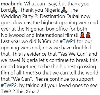 the wedding party makes 73 million naira