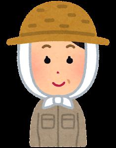 農家の女性のイラスト(笑顔)