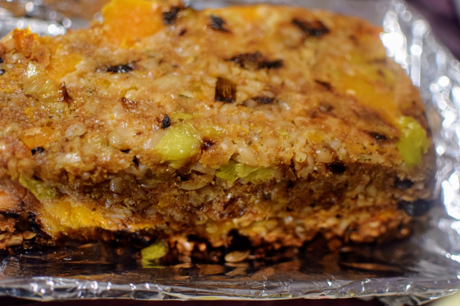, Food:  Butternut Squash and Leek Nut Roast (Eating Root to Leaf: How to Use Every Part of the Vegetable)