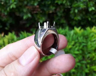 Ring Perak Hongkong 925 Simpel Kokoh PRK040