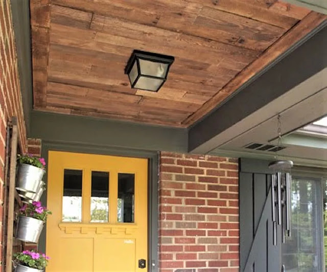 Entryway Pallet Ceiling