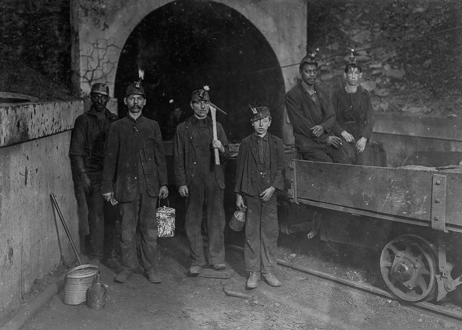 Mine workers in Gary, West Virginia. 1908.