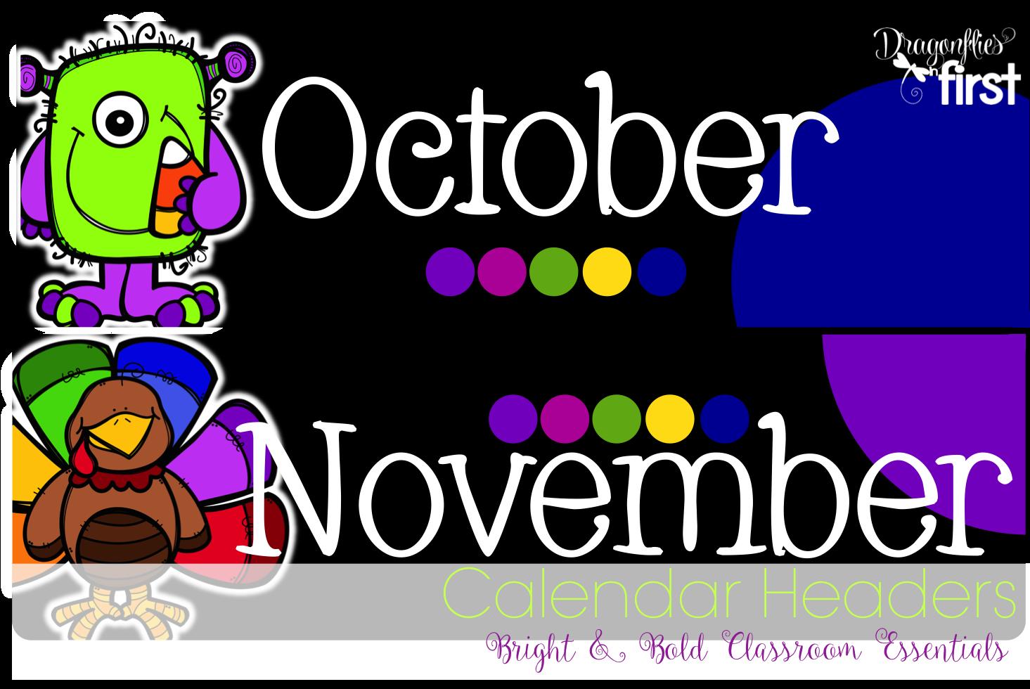 Calendar Monthly Headers : Classroom calendar decor
