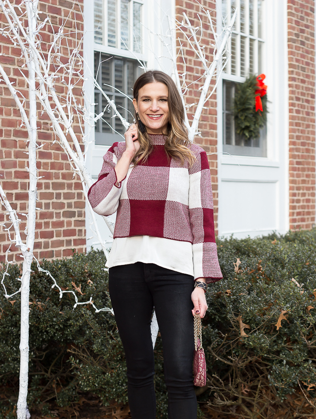 Red Gingham Sweater