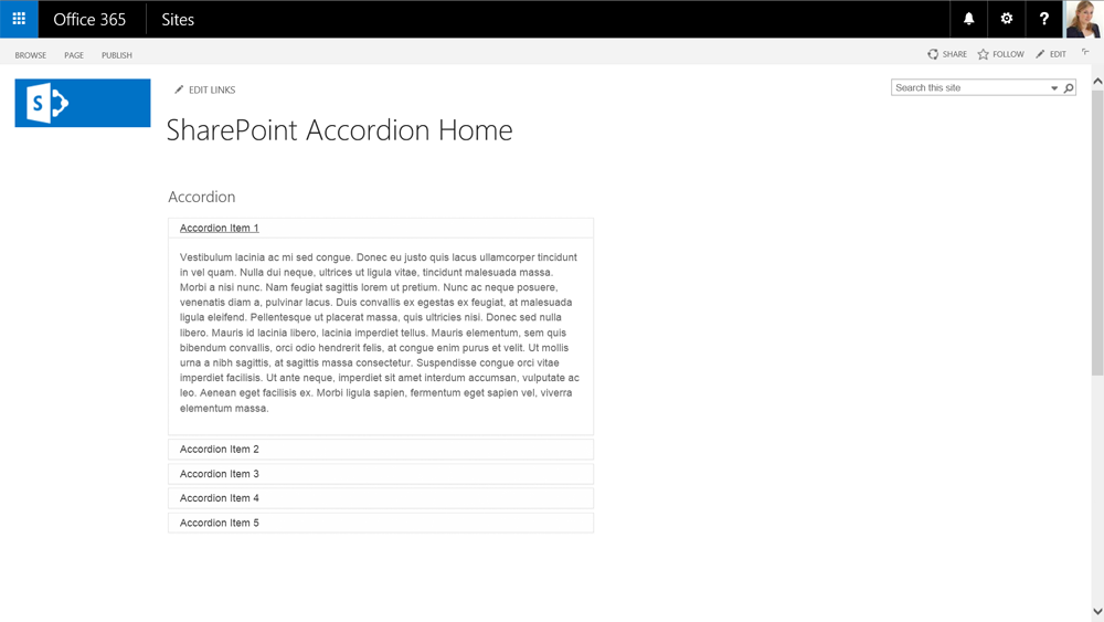 SharePoint Front End Topics: Display Templates: Accordion