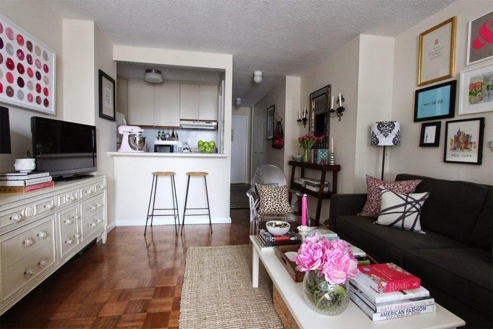 Kitnet alugada decorada com capricho 37 m². Blog Achados de Decoração