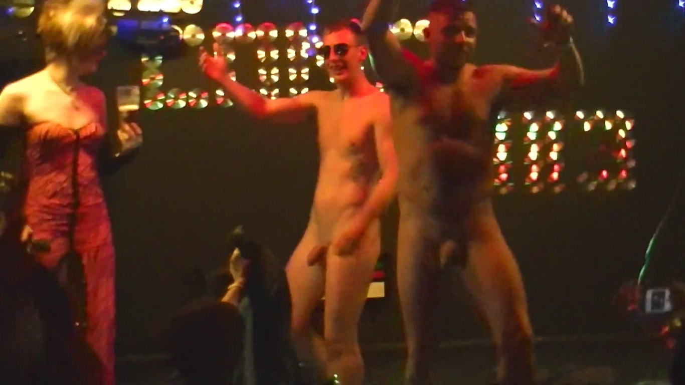 Boys naked on stage