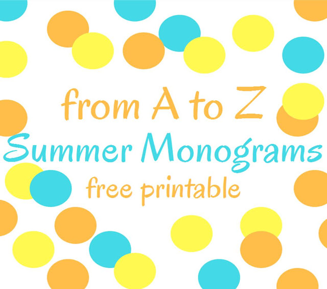 From A to Z: summer monograms free printable