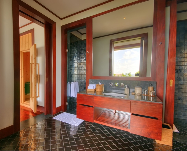 One of five bathrooms in the house