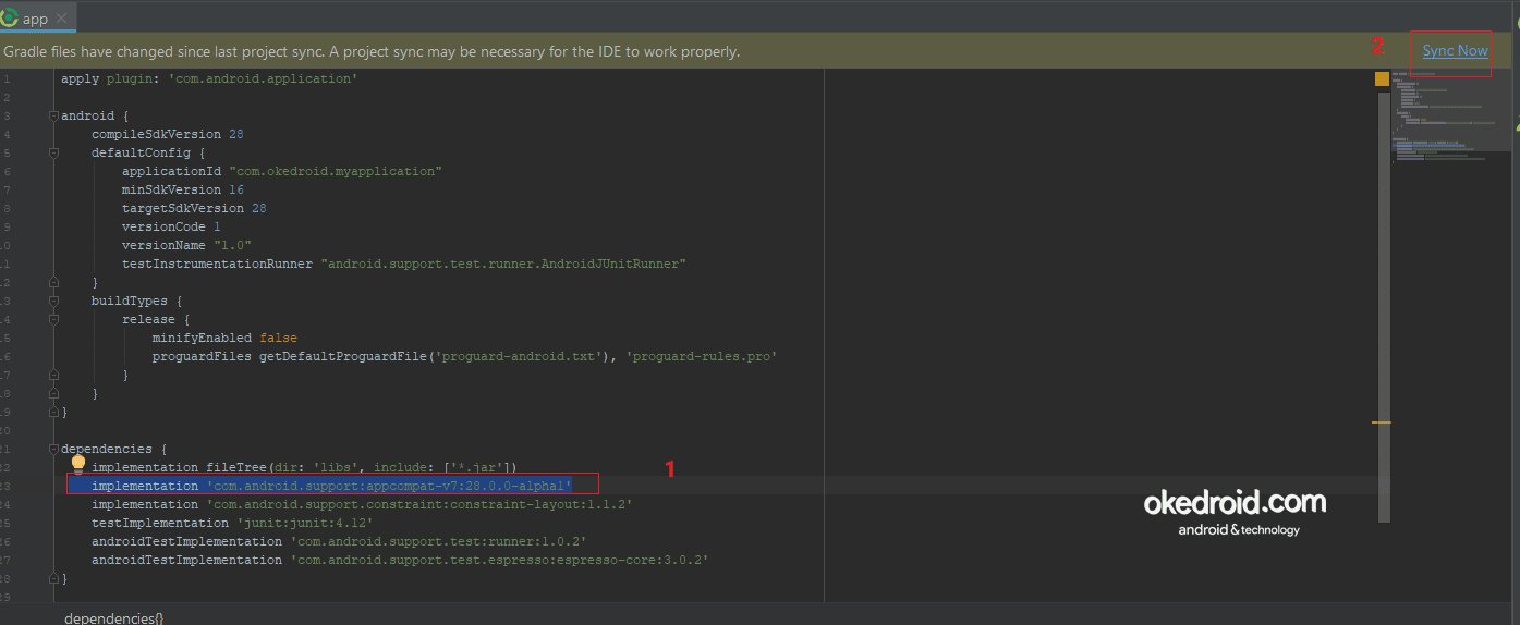 Mengganti version library appcompat ,untuk mengatasi render problem pada layout android studio