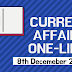 Current Affairs One-Liner: 8th December 2019