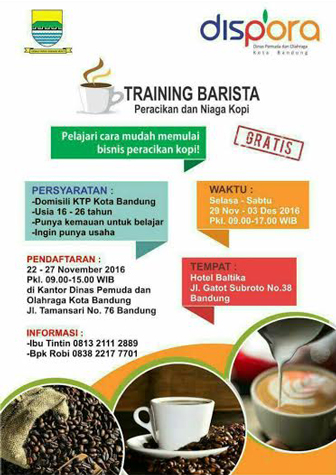 Pelatihan (Training) Barista Peracikan dan Niaga Kopi [GRATIS]
