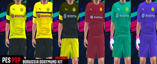 big sale 8ba3a 7eb49 Borussia Dortmund Kits 2018/2019 PES PSP (PPSSPP)