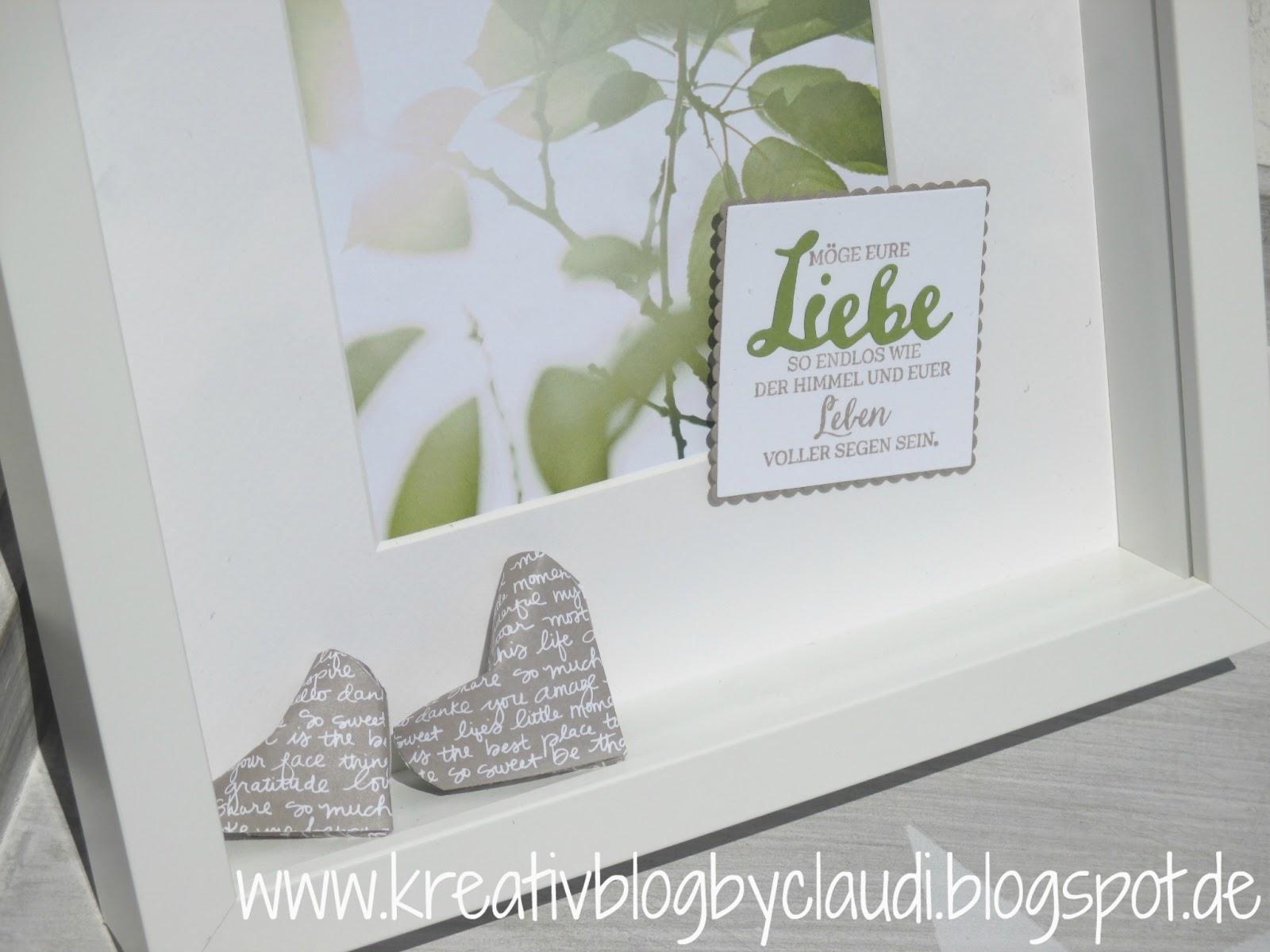Kreativ Blog by Claudi: Bilderrahmen zur Hochzeit