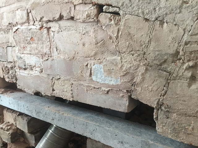 concrete lintel in chimney