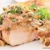 Receita simples, saudável e suculenta de frango grelhado ao molho de mostarda e champignon