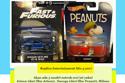 Hot Wheels Replica Entertainmnet Mix 3 : Movie